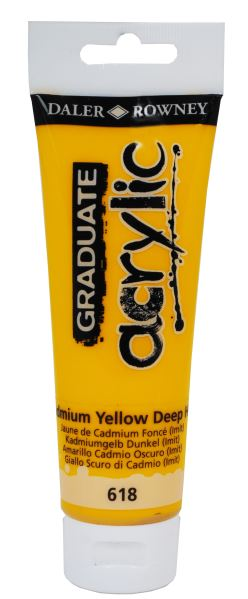 D&R Graduate Cadmium Yellow Deep Hue 120 ml
